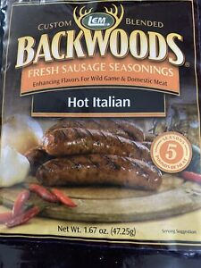 LEM Backwoods  Sausage SEASONING Hot Italian FLAVOR  Seasons 5 Lb