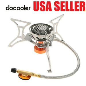 Docooler Windproof Foldable Camping Gas Stove Burner Furnace Outdoor Camping BBQ