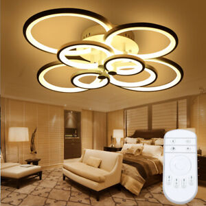 Modern LED Chandelier Light Home Bedroom Acrylic Ceiling Lamp+Remote Controller