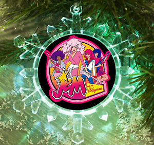 Jem and the Holograms retro Snowflake Blinking Holiday Christmas Tree Ornament