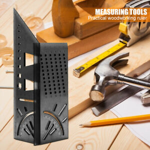Multifunctional Square 45 90 Degree Gauge Angle Ruler Woodworking Measuring Tool $6.32