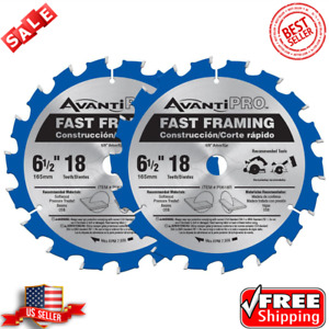 6-1/2 In. X 18-Tooth Fast Framing Circular Saw Blade cutting softwood (2-Pack)