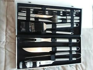 ROMANTICIST 20pc Heavy Duty BBQ Grill Tool Set in Case The Very Best Grill SET