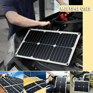 100W Flexible Solar Panel Generator Power Battery Charger Caravan Boat Car  K