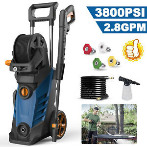 3800PSI 2.8GPM Electric Pressure Washer High Power Cold Water Cleaner Machine US