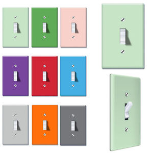 1-Gang Single Toggle Light Switch Wall Plate Decor Cover - Solid color