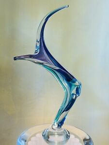 Barry Entner Abstract Glass Sculpture Signed And Dated 1998 $1,590.00