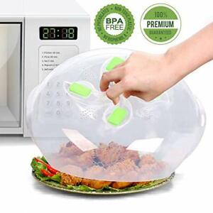 Microwave Plate Cover Splatter Lid with Steam Vents For Food BPA Free 11.8 Inch