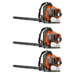 Husqvarna Gas Powered 350BT Backpack Blowers Variable Speed 965877502 Set of 3