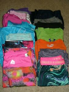 Girls Athletic Clothing Lot Under Armour Nike Champion + M L & A Few XL $54.99