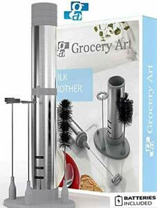 GA Electric Milk Frother Set 3-in 1 – Handheld Battery Operated Electric Foam Ma