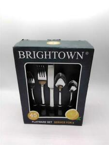 Brightown 45 Piece Flatware Cutlery Set Stainless Steel