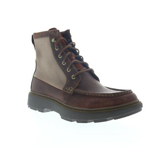 Clarks Dempsey Peak 26147111 Mens Brown Leather Lace Up Casual Dress Boots $43.99