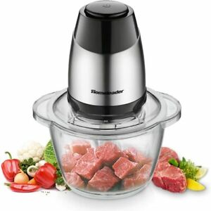 Electric Food Chopper, 5-Cup Food Processor by Homeleader, 1.2L Glass Bowl Grind