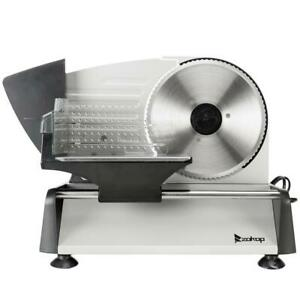 7.5quot; Meat Electric Food Slicer Commercial Cutter Stainless Steel Cheese Cooks US $49.99