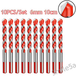 10cm Triangle Drill Bits Multifunctional Punching Drill Punching Hole 10X Set US