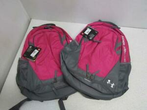 Lot Of 2 Under Armour UA8447 587 Hustle 3.0 Backpack Tropic Pink $22.50