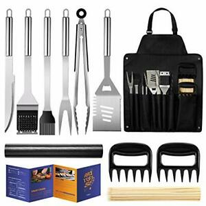 Veken BBQ Grill Accessories, 11PCS Stainless Steel BBQ Tools Set for Men