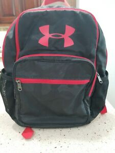 Under Armour HOF Boy Athletic BACKPACK 1256655 NWT black camo & red 15 X11 X 3 $17.99