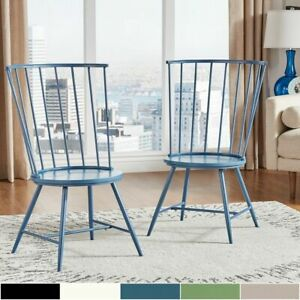 Truman High Back Windsor Classic Dining Chair Set of 2 by