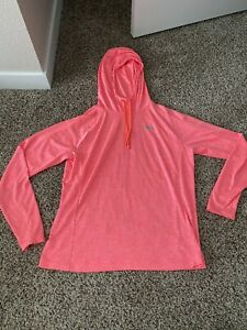 under armour womens Heat Gear Pullover Hooded Light Weight Jacket Sz Large $14.00