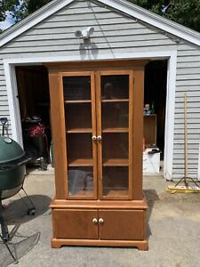 Hand Made Solid Wood China Cabinet