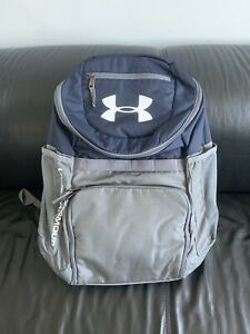 NWOT Under Armour Team Backpack Navy Blue Gray Brand New $24.99