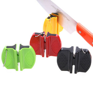 NEW Mini Knife Sharpener Creative Butterfly Pocket Knife - Color: Orange