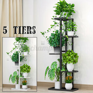 5 Tiers Plant Stand Candle Holder Flower Pot Display Shelf Rack With Foot Pad