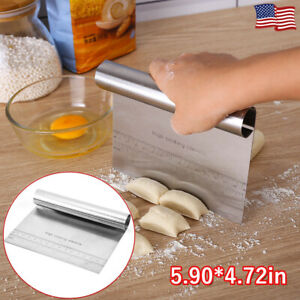 Stainless Steel Dough Scraper Pastry Cake Pizza Bread Cutter Kitchen Baking Tool