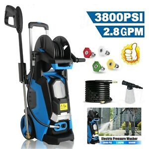 3800PSI 2.8GPM Electric Pressure Washer; High Power Cold Water Cleaner Machines; $79.99