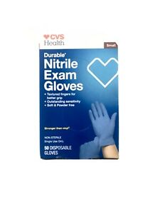 CVS Health Durable Nitrile Exam Gloves Size Small, 50CT FAST FREE SHIPPING