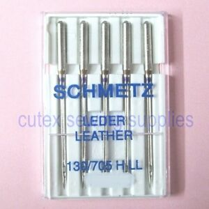 Schmetz 130 705H LL Leather Point Needles For Home Sewing Machines 5 Pk $3.35
