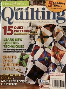 Fons amp; Porter#x27;s Love Of Quilting Magazine Jan Feb 2013 Winter Frost Quilt $3.99