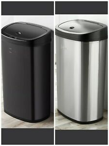 Motion Sensor Trash Can Stainless Steel Kitchen Garbage Hands Free Lid 13.2 G