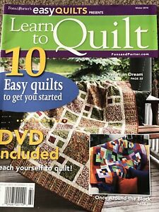 Learn To Quilt Mag by Fons and Porter Easy Quilts Beginner Quilting No DVD $3.99