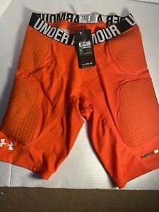 Under Armour MPZ Padded Compression Shorts Orange Large BRAND NEW WITH TAGS $44.99