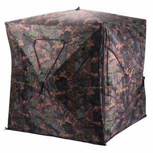 Ground Hunting Blind Portable Deer Pop Up Camo Hunter Weather Proof
