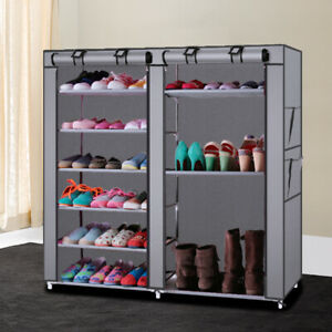 Blissun Shoes Rack Storage Organizer Cabinet Tower With Non Woven Plastic HE $23.04