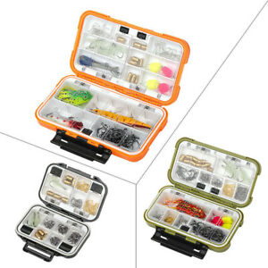 2 Layer Fishing Accessories Tackle Hooks Box Waterproof Lure Bait Storage Case