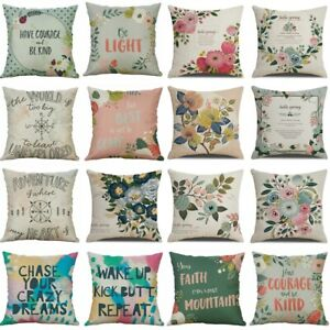 Home Cover Sofa Cotton Linen Words Letter Printed Decor Pillow Cushion Case 18quot; $1.99