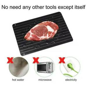 Rapid Thawing Defrosting Tray Kitchen Safe Defrost Meat amp; Thaw Frozen Food