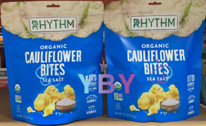 2 Packs Rhythm Organic Cauliflower Bites with Sea Salt 5.75 oz Each Pack