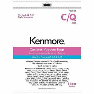 Kenmore 50104 8 Pack Style C Q Canister Vacuum Bags