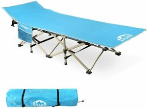 Camping Cot 450LBS Max Load Portable Foldable Outdoor Bed with Carry Bag for