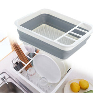 Collapsible Dish Drainer Dish Rack Washing Up Board Cutlery Plates Space Saving