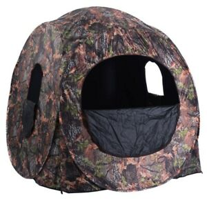 Portable Hunting Blind Pop Up All Weather Ground Camo Hunting Enclosure Durable