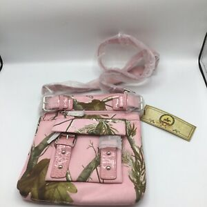 Realtree Pink Camouflage Crossover Messenger bag New