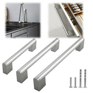 Stainless Steel Brushed Nickel Modern Bath Kitchen Boss Bar Cabinet Handle Pull
