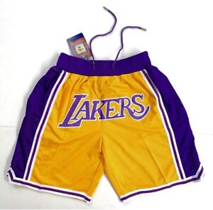 Los Angeles Lakers Vintage Retro Gold Just Don Summer League Basketball Shorts $38.95